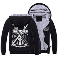 Others sword art online kazuto kirigaya - SAO Zip Up Hoodies Jackets Coats Sword Art Online Hooded Kirito Cosplay Sweatshirts Kirigaya Kazuto Autumn Winter