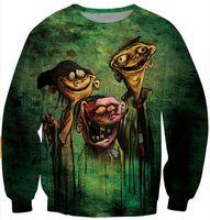 Wholesale N 3d - Harajuku style 2014 new men women's 3D sweatshirt cartoon print Ed Edd n Eddy on Bath Salts zombie funny pullover hoodies