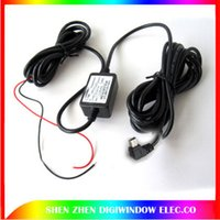 Wholesale 12v Dvr Recorder - 12V 24V 36V input car truck camera DVR power adapter charger for video recorder power cord USB jack For car DVR free shipping