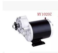 gebürstetes motorrad großhandel-MY1020Z 450 Watt 24 V gebürstetem Getriebe Motor, Elektro-Fahrrad-Motor, DIY Elektromotor für Fahrrad, DIY Motor Kit