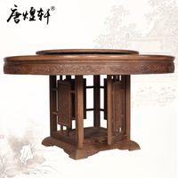 antike massivholzmöbel großhandel-Antike Mahagoni Möbel Wenge Holz Tisch runden Tisch Drehscheibe Roundtable mit chinesischen klassischen Möbeln Massivholz