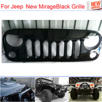 Wholesale The Newest Car Styling MirageBlack Piano Laquer ABS Front Racing Grille Black For Offroad Jeep Wrangler