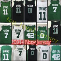 Wholesale Cheap 42 - 17 18 New Men's #11 Kyrie Irving 0 Jayson Tatum jersey stitched 7 Jaylen Brown 42 Al Horford 20 Hayward jerseys Cheap sales