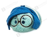 Wholesale Plush Mobile Cleaner - Wholesale-New Arrival Tsum Tsum Inside Out Joy Disgust Anger Fear Cute Cartoon Mini Plush Toy Doll Mobile Phone Cleaner Birthday Gift