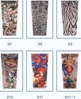 Wholesale-Fashion-Sommer-Art temporäre gefälschte Slip On Tattoo Arm Sleeves Kit Colle Fake Tattoo Ärmel Farbe Random HB-0206