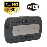 despertador câmera wi-fi venda por atacado-1080 P WiFi mini Câmera IP P2P Relógio Night Vision Câmera de Vigilância Remota Completa HD Alarm Clock DVR Gravador De Vídeo Para IOS Android T10