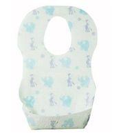 önlükler tek kullanımlık toptan satış-2017 Kaliteli Yumuşak Su Geçirmez Tek Kullanımlık Bebek Önlüğü 0-6years eski Bandana Ucuz Renkli Çocuk kağıt Önlüğü önlük bebek bakımı kullanım için Pamuk