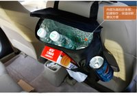 Wholesale Tissue Box Holder Organizer - Keep Warm Car Back Seat Organizer holder Storage Bag Baby Kick Mat Protector Travel Tissue Box Pouch Hanger Mud Cover
