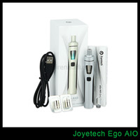 Wholesale Ego Battery Joye - 100% Original Joyetech Ego AIO Kit Temperature Control Box Mod Kits 1500mah Battery 2ML E Liquid Capacity Joye Ego AIO