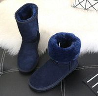 Wholesale Cow Pads - Cheap In Stock high quality Half Boots 11color Winter Snow Boots sexy WGG womens snow boots Winter warm Boot cotton padded shoes