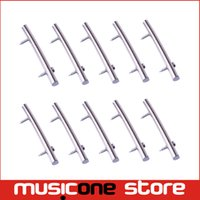 Wholesale Bar Electric Guitar - 10pcs 48.5mm Chrome Brass Guitar String Retainers Bars Tension Bar for Floyd Rose Tremolo Systems Electric Guitar MU0586