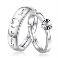 отправить кольцо оптовых-S925 серебро любителей кольцо корейский ювелирные изделия любителей кольцо Любовь кольцо открытие День Святого Валентина подарок для отправки его подруга подарок
