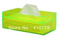 Wholesale Plexiglass Can - Wholesale-THZ Free Shipping Acrylic Plexiglass Tissue Box Blue 226x126x84mm 5mm Thickness Acryl Boxes Can Customize Any Shape, Size, Color
