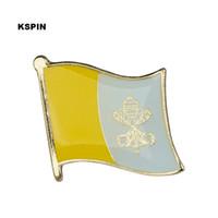 Wholesale Flag Pin Badges - Free shipping Vatican Metal Flag Badge Flag Pin