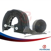 Wholesale Heat Shield Cover - PQY STORE-BLACK T3 TURBO HEAT SHIELD BLANKET COVER + 10 METER 2