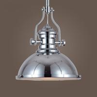 rustik endüstriyel ışık toptan satış-Vintage Ülke Rustik Ağır Metal Yemek Odası Kolye Lamba Armatürleri Restoran Kolye Işıkları Bar Sayacı endüstriyel Işıkları