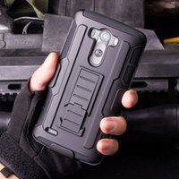 Wholesale nexus belt for sale - Group buy Future Armor Impact Hybrid Hard Phone Case Cover With Belt Clip Holster Kickstand Stand for LG G3 G4 Mini Stylus LS770 V10 C40 Nexus X P