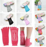 Wholesale silica gel toes for sale - Group buy Fashion Yoga socks Professional Women s Gym Yoga Body mechanics Socks Ladies Cotton Toe Sports Silica Gel non slip Socks Warm Cotton socks