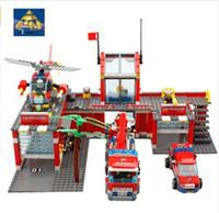 Wholesale kazi blocks - Building Blocks Kazi Original Technic Designer City Fire House Construction Scale Model Toys For Children Lepin Compatible
