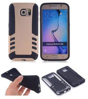 Hybride Armure Rugged Impact En Caoutchouc TPU + PC Housse de Protection pour iPhone 4s 5s 6 Plus Samsung Galaxy s4 s5 s6 Note 3 4 LG G3