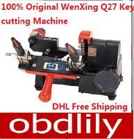 Wholesale key cutting duplicated machine - 2015 100% Original WenXing Q27 key making machine 120w.Key duplicating machine Key cutting Machine Free DHL shipping