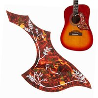 Wholesale Hummingbird Guitars - Wholesale- Acoustic Classic Guitar Red Hummingbird Pattern Music Pickguard Scratch Plate Pick Guard Protect Replace Durable