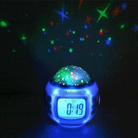 Musik Starry Star Sky Led Projektor mit Wecker Kalender Thermometer Gadget Led Licht Spielzeug für Kids Christmas Party 40pcs