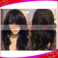 Wholesale Tangle Free Lace Front Wigs - High quality AAAAA malaysian virgin hair lace front wigs & full lace wig human hair wigs with bangs shedding tangle free