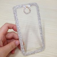 Wholesale Cool Phones Cheap - Cool Phone Cases Bling Rhinestone Hard Back Cases Plastic Material Cheap Phone Covers For LG L90 P-117