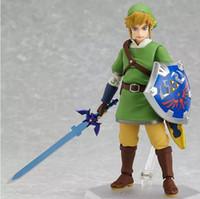 Wholesale zelda link action figure resale online - Anime Legend of Zelda Link with Skyward Sword Figma PVC Action Figure Collection Model Kids Toy approx cm