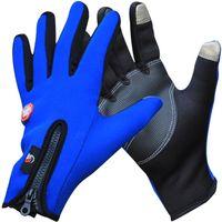Wholesale windproof gloves for touch screen resale online - Best price Screen Touch Gloves for iphone ipad Outdoor Sports Full Finger Waterproof Windproof Winter Glove Men