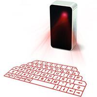 rato do ipad venda por atacado-O teclado e o rato virtuais portáteis do laser para o PC da tabuleta de Ipad Iphone, projeção de Bluetooth projetaram o orador sem fio do teclado