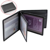 Wholesale card trimmer - Leather Style Car Motor Driving License Package Credit ID Card Holder Bag Case Trim Accessories