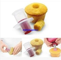 Wholesale Kitchen Cupcake Cake Corer Plunger - Plastic Cake Cupcake Corer Plunger Cutter Muffin Cake Hole Digger DIY cake Decoration Pastry Cake Divider Kitchen Tools
