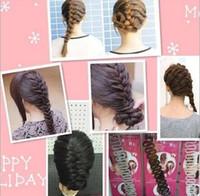 plastikgeflecht stirnband groihandel-Mode Mädchen Frauen Schwarz Haarband für Haar Braid Kunststoff Twist Roller Stirnband Haarband Haarschmuck 30 stücke /