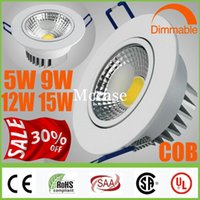 5W 9W 12W 15W Yes LED Crazy 30% OFF-CREE COB 5W 9W 12W 15W Dimmable Non LED Downlights White Shell Fixture Recessed Ceiling Down Lights Lamps+Warranty 5 years+CSA