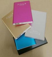 ingrosso batteria per cellulari-Vendita diretta in fabbrica 5 colori 50000 mAh Banane portatili di potenza 115x65x8mm Batteria USB Caricabatterie universale Pack per smartphone Smartphone power stat