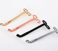 Wholesale Oil Candles Wholesale - 18*6CM Stainless Steel Candle Wick Trimmer Oil Lamp Trim scissor Cutter Snuffer Tool Hook Clipper wen4578