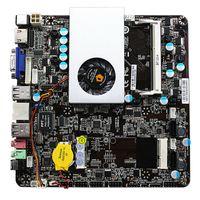 Wholesale Mini Motherboard Cpu - Ultra-thin Mini itx Motherboard Built in Dual-core CPU e350 HD6310 APU VGA RJ45 HDMI USB mSata Use 12-19V DC