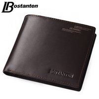 Bostanten Coffee New Sale Vintage Men Estilo Vertical Cow Leather Men Wallet Diseñador Carteras Money Clip Envío gratuito