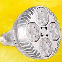 osram a mené des ampoules achat en gros de-Vente chaude Osram Puce LED Track light LED Projecteur 45w Chaud Blanc Froid PAR30 Lumière E27 Lampe Ampoule PAR 30 éclairage intérieur 85 ~ 265 V CE ROHS