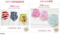 Wholesale Stripe Bandage - 2015 New Arrival 100% Cotton cartoon Baby Bandages Triangle Bibs Children Snap Bibs Mom's Care Bibs C001