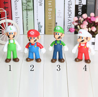 Wholesale Luigi Fire Toys - 20pcs lot Super Mario PVC Figure Mario Luigi Fire Mario Fire Luigi Figure Toy Dolls 4 Styles
