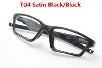 Wholesale Optical Eyeglasses Women - Wholesale-Free shipping Matte black eyewear crosslink sweep sport eyeglasses frames 20 colors for optical glasses Men OX8031 with box
