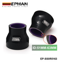 """Wholesale Pipe Intercooler - Epman High Quality 2""""-2.48"""" 51mm-63mm Silicone Straight Reducer Hose Intercooler Silicon Turbo, Black EP-SS0R5163"""