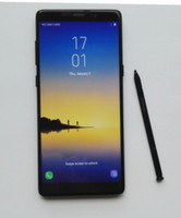 Wholesale Note Ram 2gb Rom 16gb - Real Fingerprint 6.3inch Goophone Note8 note 8 2GB RAM 16GB ROM N8 Android Show Octa Core 4G LTE Note 8 Cell phones