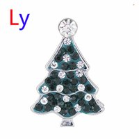 Wholesale Crystal Clay For Sale - Hot Sale Snap Jewelry Button For Bracelet Necklace 2015 Fashion DIY Jewelry Crystal Christmas Tree Design Alloy Snaps AC129