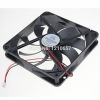 Atacado 1Pieces GDT DC 12v 2Pin 140MM x 25mm Brushless PC Computer Cooling Fan
