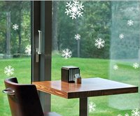 Wholesale Sliding Door Stickers - Free shipping 1 sheets of stickers Hotel shopping glass sliding door shop window new year christmas snowflake stickers TY456