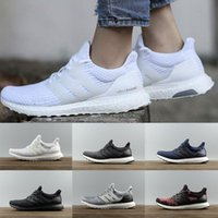 Wholesale New Stock Shoes - 2018 New stock arrival Ultraboost 3.0 White grey running shoes men women High Qulity training Enhance Running shoes Size EUR 36-46